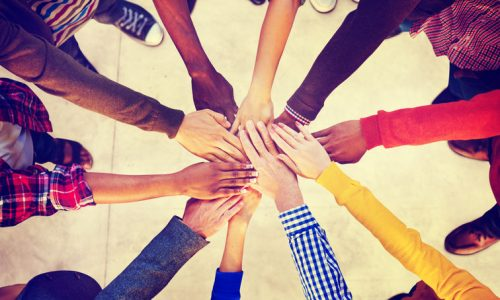 49344074 - group of diverse multiethnic people teamwork concept